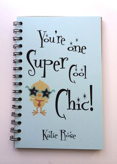 Easter Chic, Easter Gift, Easter Notebook, Chic, Super Cool Chic, Easter Basket Gift, Kids, Notebook, Journal, Sketchbook