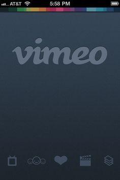 Vimeo Splash Screens, Navigation, Icons › PatternTap