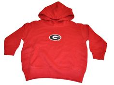 Georgia Bulldogs Two Feet Ahead Toddler Red Fleece Hoodie Sweatshirt