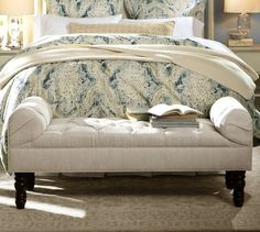Lorraine Tufted Bench | Pottery Barn