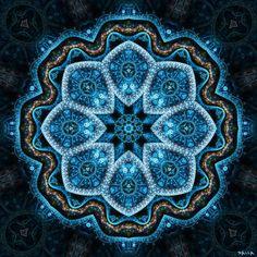 Example of blue mandala. Mandala Art, Mandala Pattern, Marianne Design, Flower Of Life, Fractal Art, Islamic Art, Sacred Geometry, Geometric Shapes, Fantasy Art