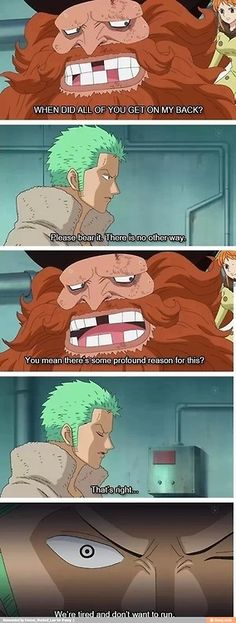 Profound reasoning, according to the StrawHat crew