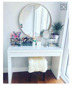 DIY Makeup Vanity with IKEA Pieces | Ikea drawers, Makeup storage ...