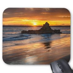 Golden Sunset Mouse Pad