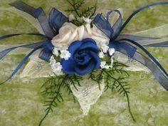 Tischdeko Lotusblüte Aufleger blau Hochzeit Konfirmation Kommunion ...