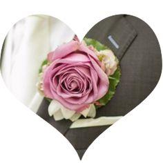 corsage op magneten van Bruidsboeket  Zo