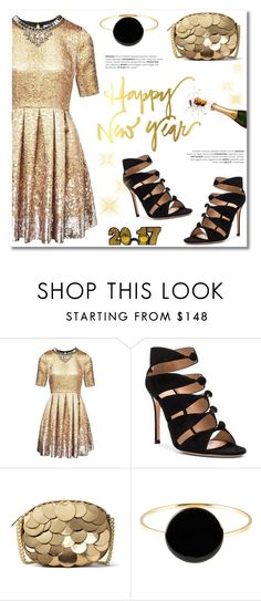 """""""Happy New Year!"""" by helenevlacho ❤ liked on Polyvore featuring Matthew Williamson, Gianvito Rossi, MICHAEL Michael Kors, Isabel Marant, newyear and 2017"""