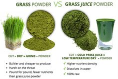 Find out the difference between grass powder (most common) and grass juice powder (most powerful). http://foodmatters.tv/superfood-greens