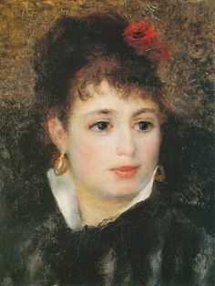 Titulo de la imágen Pierre-Auguste Renoir - Woman with a rose in her hair