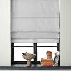 Solid Roman Shade  Feather Gray    love the window treatment for privacy and keep hot sunny days