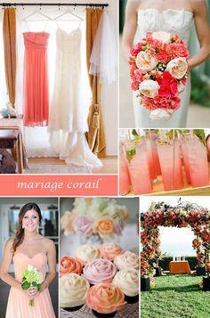 { tendance 2013 } des idées de mariage couleur corail faire part de mariage pas cher, sur mesure - joyeuxmariage.fr
