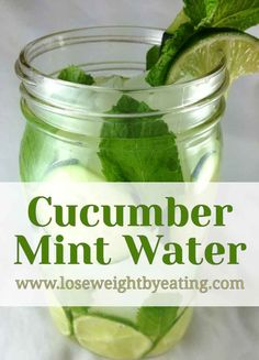 Cucumber Mint Water is the perfect cool down drink on a hot day. The cucumber and mint reduce bloat and the lime gives you Vitamin C. via @tonetiki