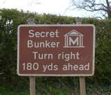 Just in case you forgot where you've built this damn thing! Secret Bunker, Writing Programs, Lost In Translation, Led Signs, Sign Quotes, Funny Quotes, Funny Signs, Vintage Advertisements, Make Me Smile