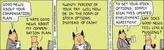 Dilbert Classics by Scott Adams for Wed 31 Mar 2021 #Dilbert #Comics Dilbert Comics, Scott Adams, How To Get, How To Plan, Comic Strips, Good News, The Twenties, Cartoons, March