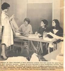 Remember when Home Economics was required for all girls during high school?