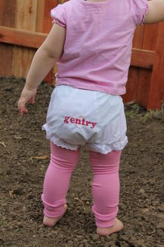 Baby Girl Bloomers  Ruffle Bottom Diaper Cover by GentrysCloset, $12.00
