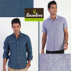 For all those years Blue has been the most favourite #colour in any man's #wardrobe!   #LineLove's collection also has various shades in colour #blue  Grab one now at: http://www.linenlove.in/