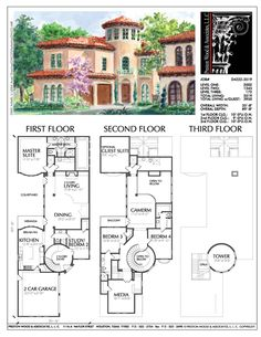 2 Family House Plans Luxury 2 Story House Plan Residential Floor Plans Family Home Floor Plans 2 Story, Two Story House Plans, Family House Plans, 2 Story Houses, Country House Plans, Dream House Plans, House Floor Plans, Home And Family, Spanish Style Homes