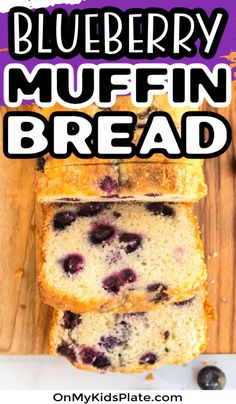 Blueberry Bread is super easy and quick to make from scratch and tastes just like a blueberry muffin. This moist and delicious quick bread is full of  fresh or frozen blueberries and is delicious for breakfast or a snack. #blueberrybread #breakfastrecipes #blueberries
