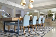 Contemporary Interior Design - Johannesburg Interior Designers - Nowadays Interiors - Wood - Blue - Tranquil Dining Chairs, Dining Table, Contemporary Interior Design, Decoration, Eagle, Designers, Interiors, Wood, House