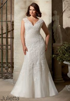 by Mori Lee Plus Size Wedding Dresses 3177 Beautiful plus size lace wedding dress.Beautiful plus size lace wedding dress. Plus Size Wedding Dresses With Sleeves, Wedding Dresses For Girls, Perfect Wedding Dress, Bridal Wedding Dresses, Cheap Wedding Dress, Wedding Dress Styles, Designer Wedding Dresses, Bridesmaid Dresses, Wedding Reception
