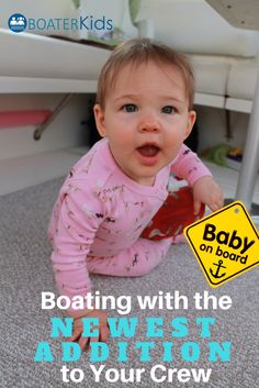 Boating with baby best practices. Is it safe to take a baby on a boat?What type of baby boat gear do I need? and other questions about bringing a baby on board your boat. Boating With Baby, Boating Tips, Traveling With Baby, Baby An Bord, Boat Supplies, Family Boats, Boat Safety, Toddler Sleep, Pontoon Boat