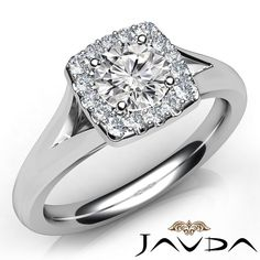 Round Diamond Engagement Ring Certified by GIA, E Color & VS1 clarity, 14k White Gold (0.7 ct. Total weight.)