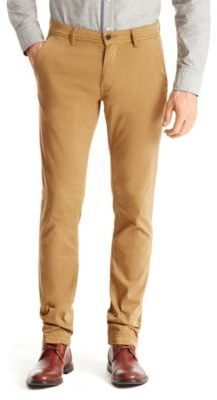 $67, Khaki Chinos: Hugo Boss Schino Slim D Slim Fit Cotton Chinos 3034 Red. Sold by Hugo Boss. Click for more info: https://lookastic.com/men/shop_items/231560/redirect