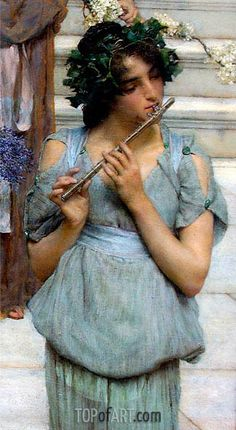 The Fluted Girl, Detail from Spring,1894 | Alma-Tadema | J. Paul Getty Museum Los Angeles USA