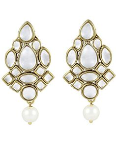 Karatcart Ethnic Kundan Earings for Women ** You can get more details by clicking on the image. Note:It is Affiliate Link to Amazon.