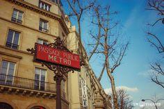 Placa de metrô - Paris