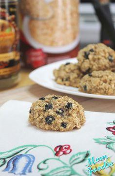 Blueberry Oatmeal Breakfast Cookies #recipe
