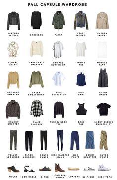 CAPSULE CLOSET — Fall capsule wardrobe