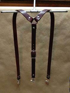 440 Gentleman Supply. Wide leather suspenders
