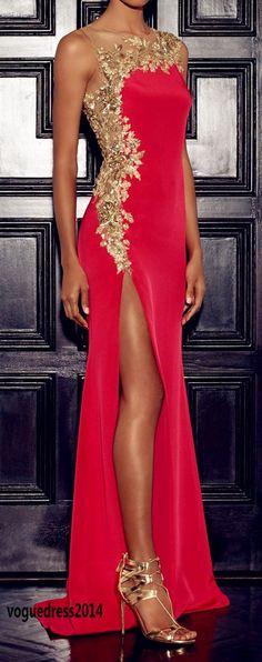 vestido elegante con tajo