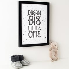Dream Big Starry Monochrome Print – Hippo & Co.