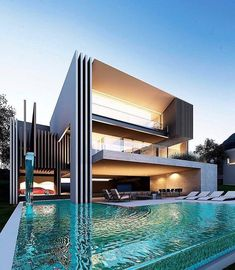 """1,285 curtidas, 21 comentários - Modern Architecture & Design (@modern_archdesign) no Instagram: """"_ This Is The Future, What A Luxurious Home! Do You Enjoy That Huge Pool? ⭕️ More Homes…"""""""