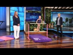 Our Little Gym Deluxe in pink and purple was on The Ellen Degeneres Show today! This little gymnast Emma loves flipping on our gymnastics equipment! Gymnastics Routines, Gymnastics Moves, Gymnastics Equipment, Amazing Gymnastics, Gymnastics Videos, Sport Gymnastics, Sports Equipment, 8 Year Olds, Three Year Olds