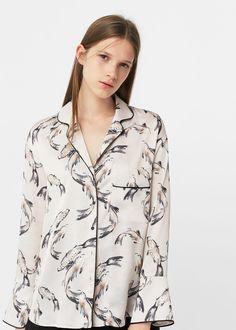 Camisa pijama estampada con koi fish | MANGO