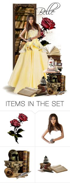 """Belle - Doll - Disney's Beauty and the Beast"" by rubytyra ❤ liked on Polyvore featuring art, doll, disney, belle, disneybound and BeautyandtheBeast"
