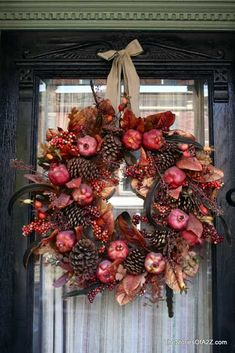 VERY cool site~ Decorative Front Door Wreaths  Dress Your Front Door for All Seasons & Reasons