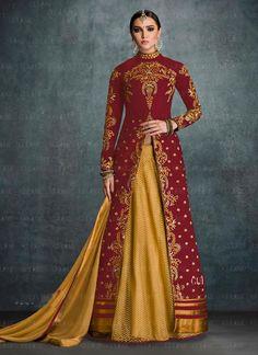 Maroon Embroidered Work Designer Lehenga Choli