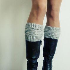 Boot topper pattern Boho Knits - Boot Cuffs, leg warmers PDF Knitting Pattern - cable fall knits accessories PHOTO tutorial.