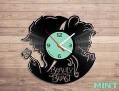 Amazon.com: Beauty and the beast vinyl record wall clock: Sports & Outdoors