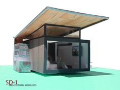 Shipping Container House. Architectural Model Kit by SDarchitect