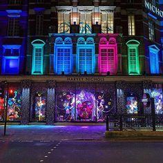 #HarveyNichols #Christmas windows. #smlondon #london #winter