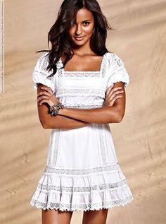 This empire-waist Lace-trim Babydoll Dress from Victoria s Secret features  a squareneck 78c645384