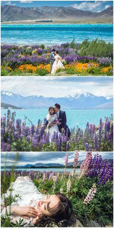19 Photos Of Lake Tekapo – The Favourite Spot For A Pre-wedding Photoshoot In New Zealand, Lake Wanaka, Lake Tekapo, Pre Wedding Photoshoot, Wedding Shoot, Photoshoot Ideas, New Zealand Wedding Venues, New Zealand Lakes, Cute Couple Pictures, Wedding Locations