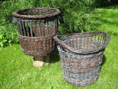 Willow Weaving, Basket Weaving, Round Basket, Large Baskets, Antiques, Crafts, Upcycle, Hampers, Paper Envelopes
