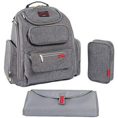 Bag Nation Diaper Bag Backpack with Stroller Straps, Changing Pad and Sundry Bag - Grey of 5 stars by in Baby > Diapering > Diaper Bags > Travel Gear Best Backpack Diaper Bag, Buy Backpack, Baby Diaper Bags, Bag Women, Buy Bags, Baby Supplies, Cool Backpacks, Changing Pad, Herschel Heritage Backpack